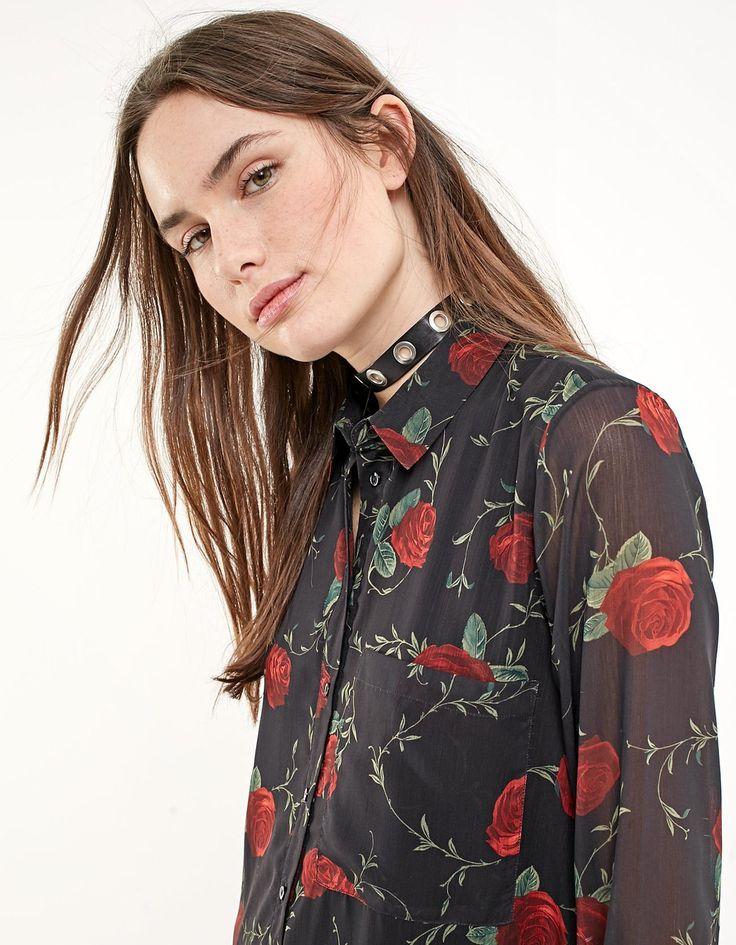 Print shirt dress - Dresses | Stradivarius Other Countries