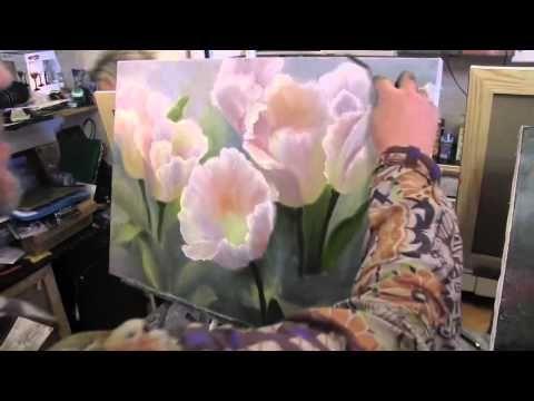 Мастер-класс Игоря Сахарова Белые цветы букет тюльпанов - YouTube