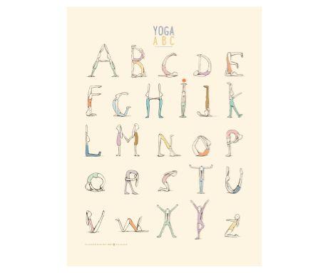 Poster, Yoga Alphabet