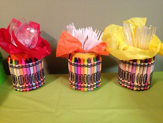 Crayola Crayon Utensil Holder For Parties