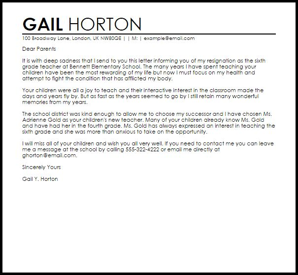 25+ einzigartige Letter for resignation Ideen auf Pinterest - teacher resignation letter