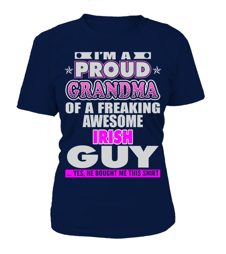 PROUD GRANDMA OF IRISH GUY T SHIRTS