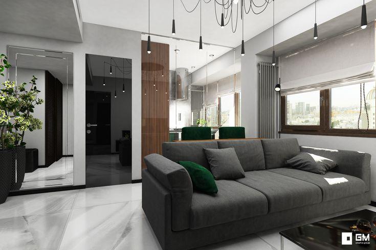 Дизайн проект современной двухкомнатной квартиры. Функциональная кухня и стильная спальня в небольшой квартире на Ленинском.
