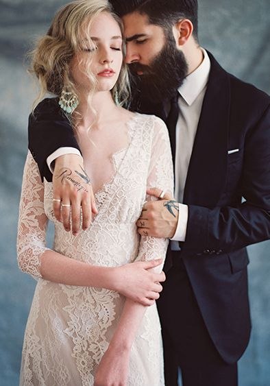 Claire Pettibone #Romantique 'Patchouli' wedding dress | Bohemian Rhapsody Collection