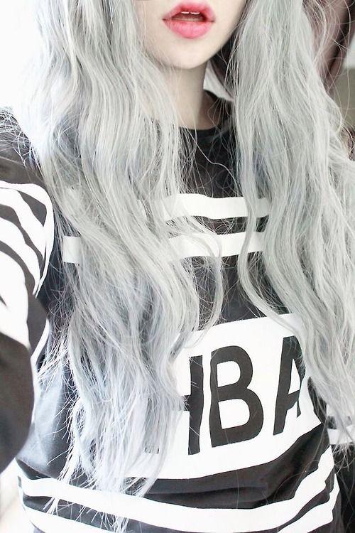 Gray Hair Tumblr Căutare Google Gray Hair Pinterest