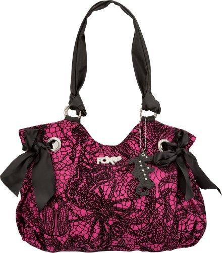 black and pink FOX RACING purse