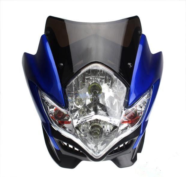 75.00$  Watch now - http://alif2c.worldwells.pw/go.php?t=32648354041 - 12V compra de motos headlight With Turn signal lights Inside Best Off road ktv GSR motorbike driving headlights