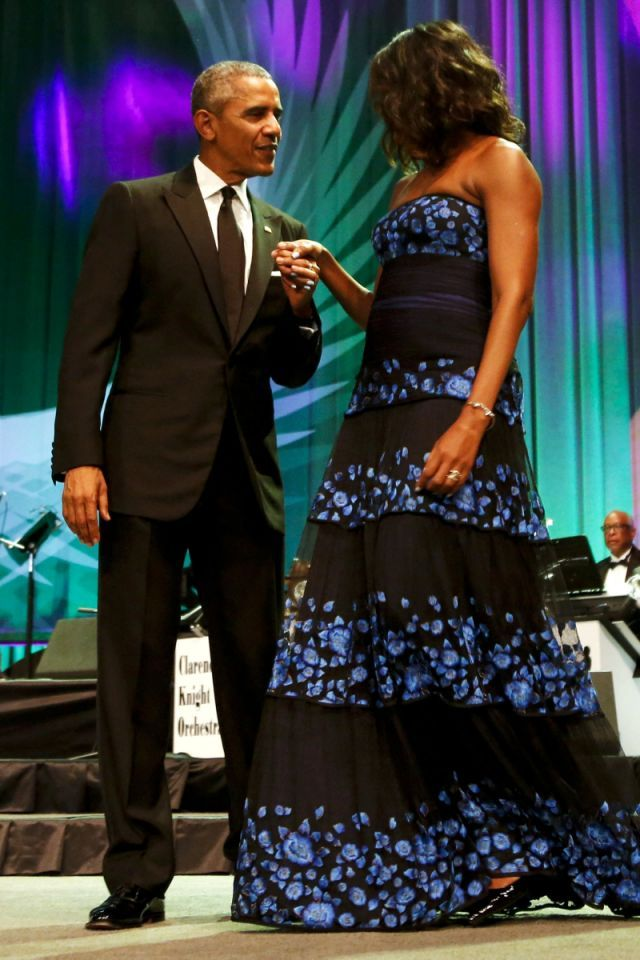 At the Congressional Black Caucus Dinner, 2015