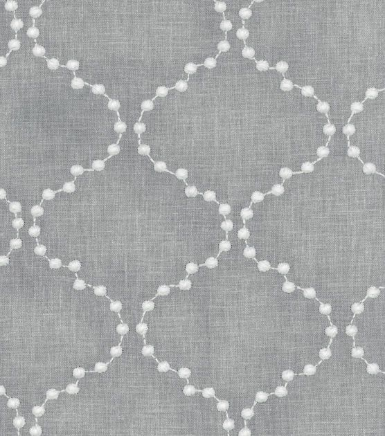 HGTV Home Upholstery Fabric-Pearl Drop Emb Smoke