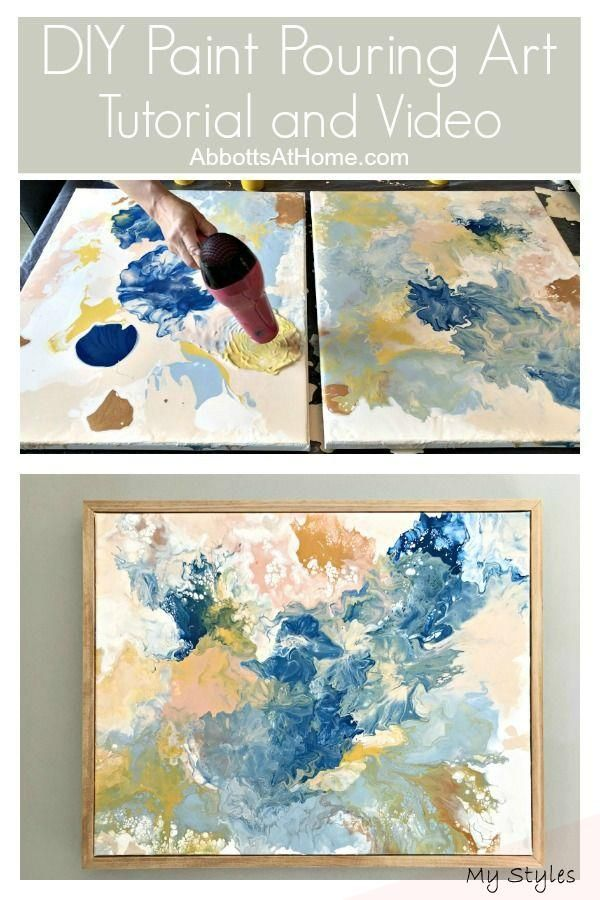 Jul 28 2019 Make Your Own Stunning Art For Less Than 20 With This Pretty Diy Paint Pouring Wall Art Idea Tut In 2020 Diy Art Projects Easy Diy Paint Diy Wall Art