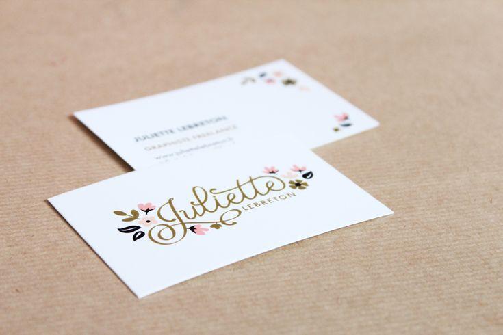 Cartes de visite Juliette Lebreton graphiste