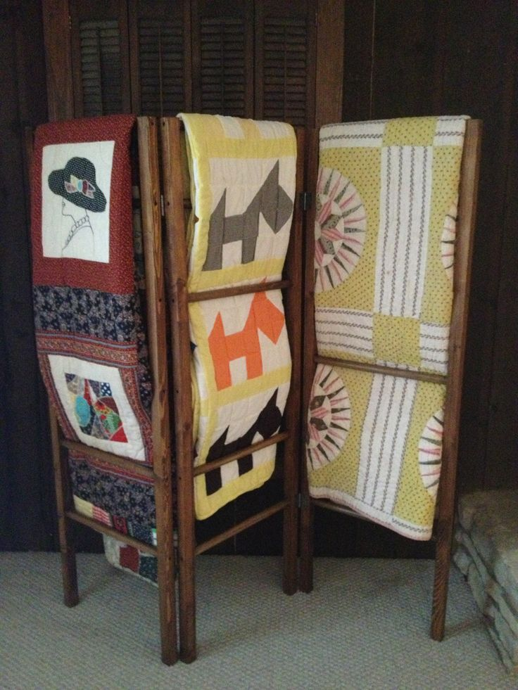 Tri-Fold Blanket/Quilt Rack. Check Out More Information On
