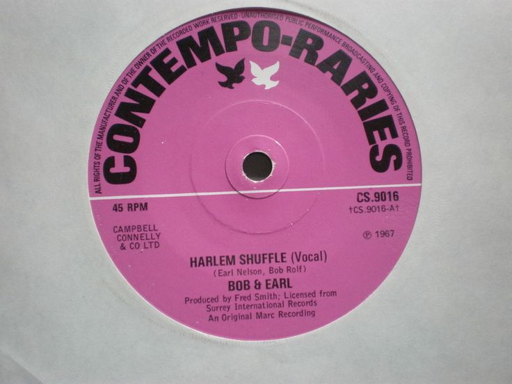 45 BOB & EARL - HARLEM SHUFFLE (CONTEMPO-RARIES CS.9016) Uk issue 45rpm 7""
