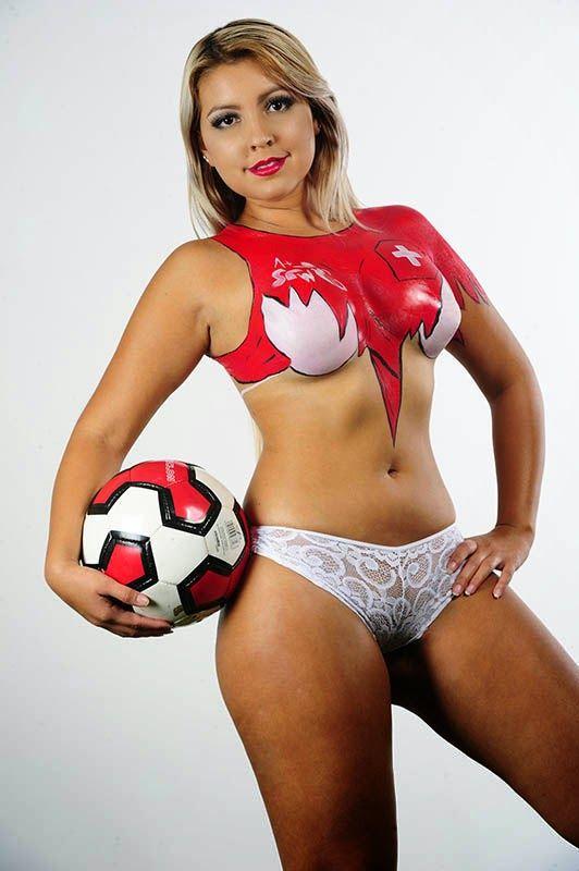 Fifa World Cup Body Painting Switzerland