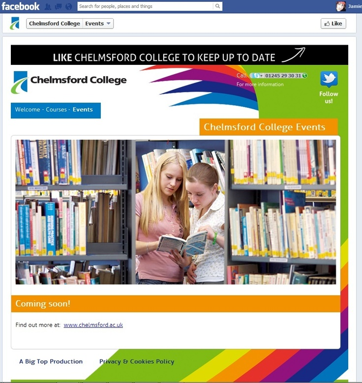 Interactive Fb Page for Chelmsford College - Socially Sensitive Design