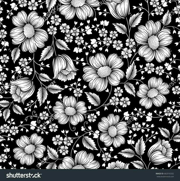Pin By Dipak Sutar On Design Line Art Flowers Flower Background