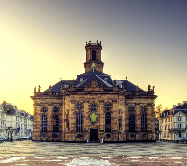 Protestant church baroque style ludwigskirche in old for Baroque style church