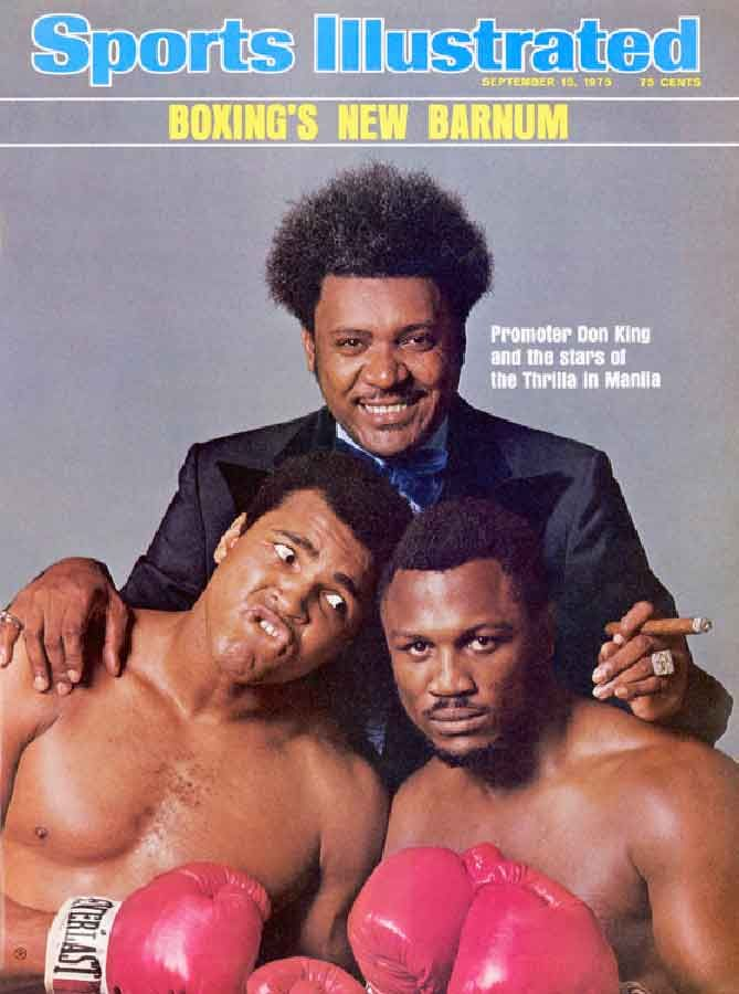 "Sports Illustrated, September 15, 1975 — ""Thrilla in Manila"" Don King, Muhammad Ali & Joe Frazier"