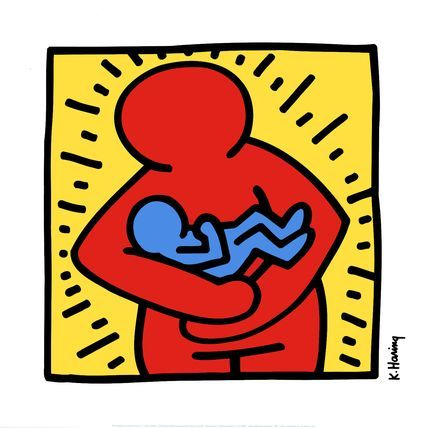Mother and Child by Keith Haring