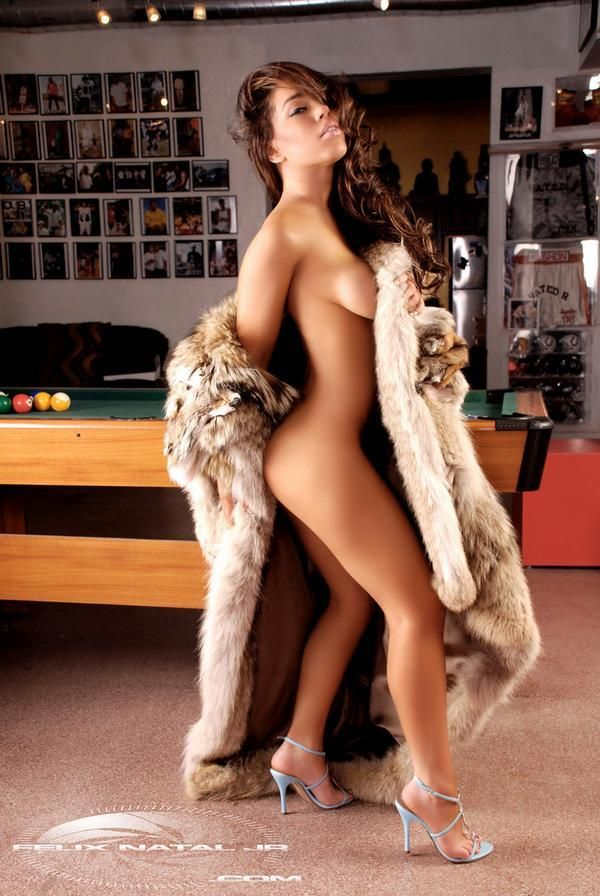 Women in fur nude were