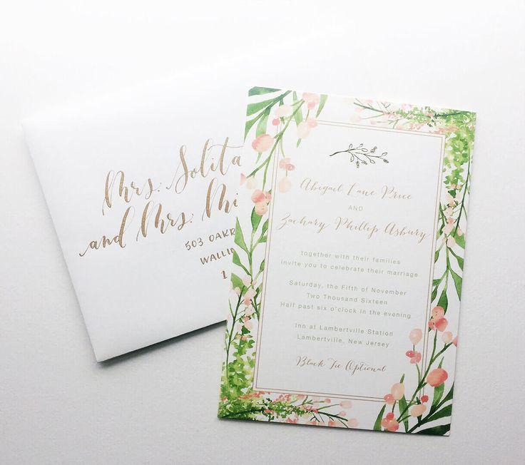 Wedding suite invitation image