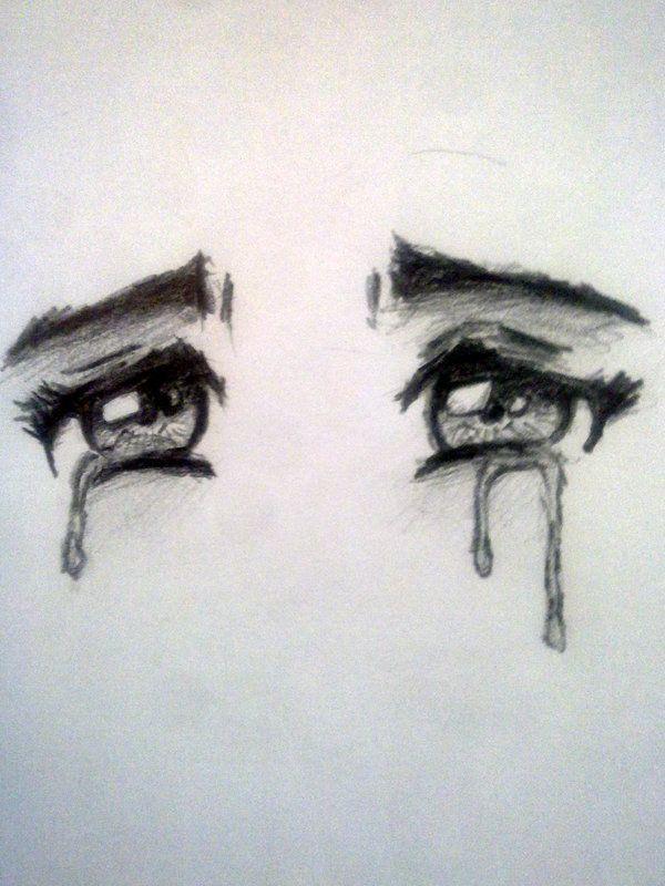 Поэтапное рисование грустных картинок бывает немного