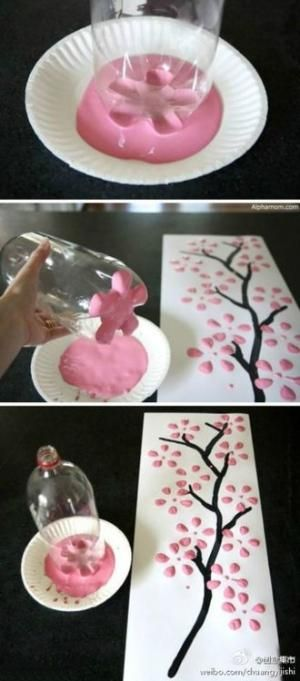 how cute!  Do this on canvas and you've got a work of art!  Something fun for the kids to do:) by Alisa Tracey