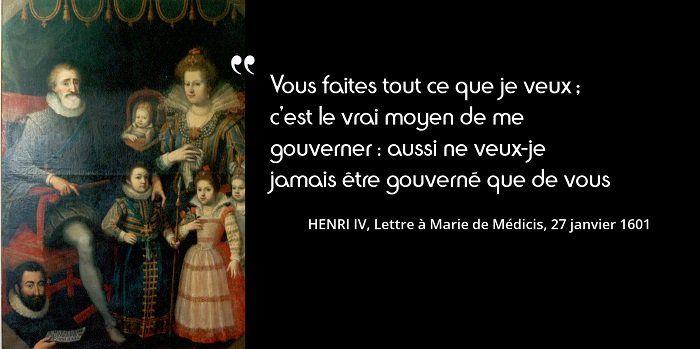 Marie de Médicis, sitôt épousée (par procuration, 5 octobre 1600), lui fait le fils qui doit lui succéder