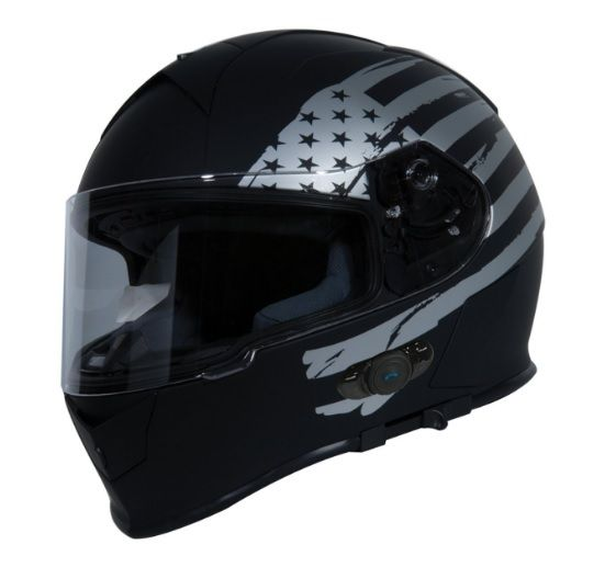One of the best top 10 Bluetooth Motorcycle Helmet from Bike Gear Up Reviews for the year 2017 is the TORC T14B with a Bluetooth integrated shell and a smooth lock drop down visor system. #BluetoothHelmet