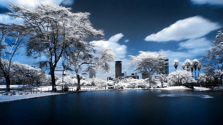Nairobi - Skyline (infrared + long exposure) by Tony Corocher @ http://adoroletuefoto.it