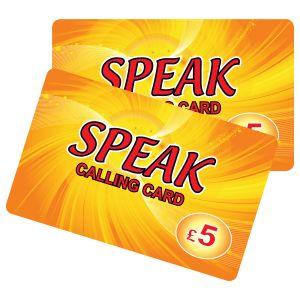 Speak £5 International Calling Card