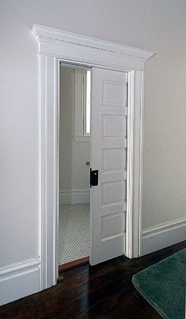 Pocket Door - space saver I would love this for the doorway between the music room and back hall.