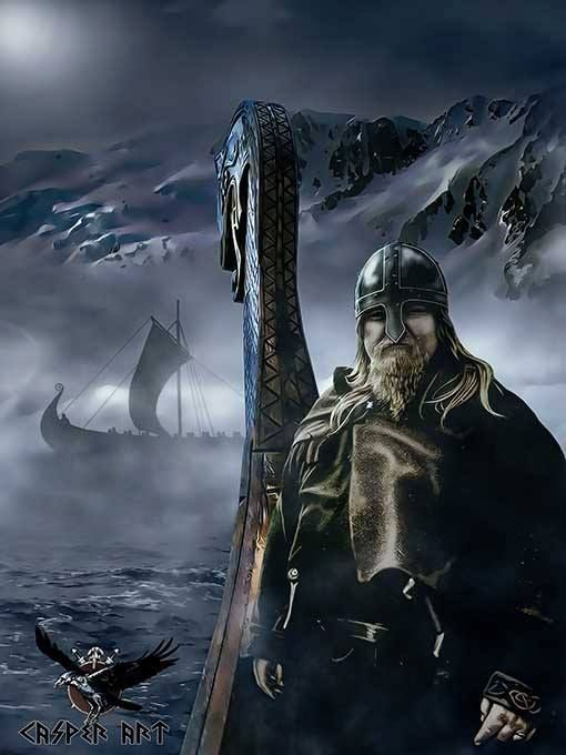 Vikings:  #Viking, Casper Art.