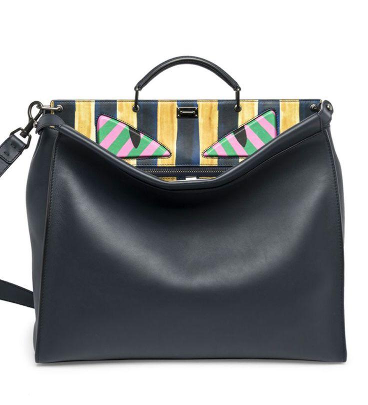 Fendi Peekaboo Leather Satchel Black               $298.00