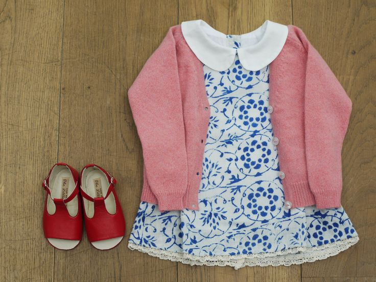 Pink Cashmere Cardigan, from £55 Limited Edition Rustic Dress, £80 BubbleChops Exclusive Bobby Shoes, £60