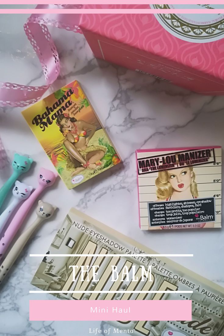 I did a the Balm Mini Haul and I'm so excited about all the makeup! A bronzer, highlighter and an eyeshadow palette!