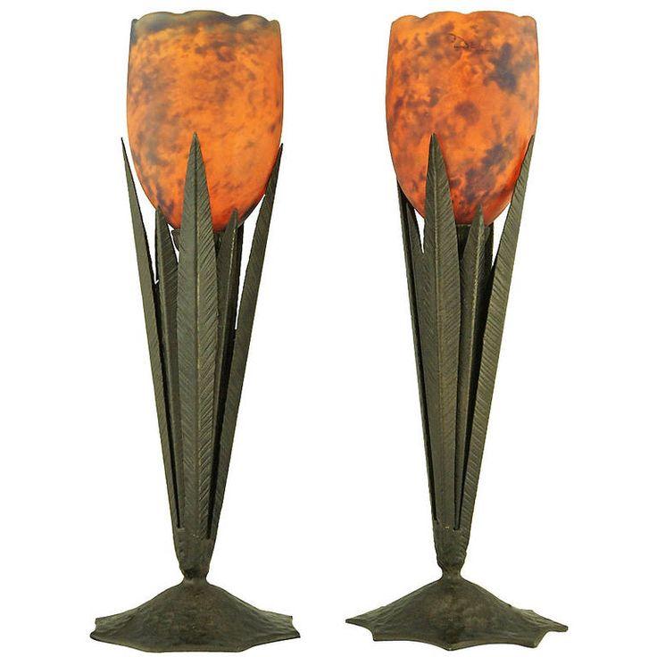 78 best images about delatte glass on pinterest nancy for Deco de table orange