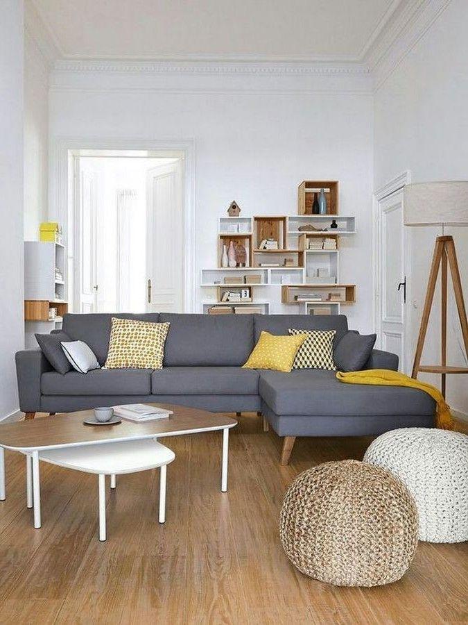30+ Elegant Small Living Room Design Ideas To Make The Most Of Your Space |  Living Room Ideas | Canape Salon, Salon Gris, Deco Salon