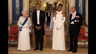 "During <a href=""http://www.cnn.com/2011/POLITICS/05/24/obama.europe.visit/"" target=""_blank"">his state visit to England,</a> Obama was also able to meet with Queen Elizabeth II and Prince Philip. The first couple gave the queen a handmade leather-bound album with rare memorabilia and photographs that highlighted the visit by her parents -- King George VI and Queen Elizabeth -- to the United States in 1939. To Prince Philip, they gave a custom-made set of pony bi..."