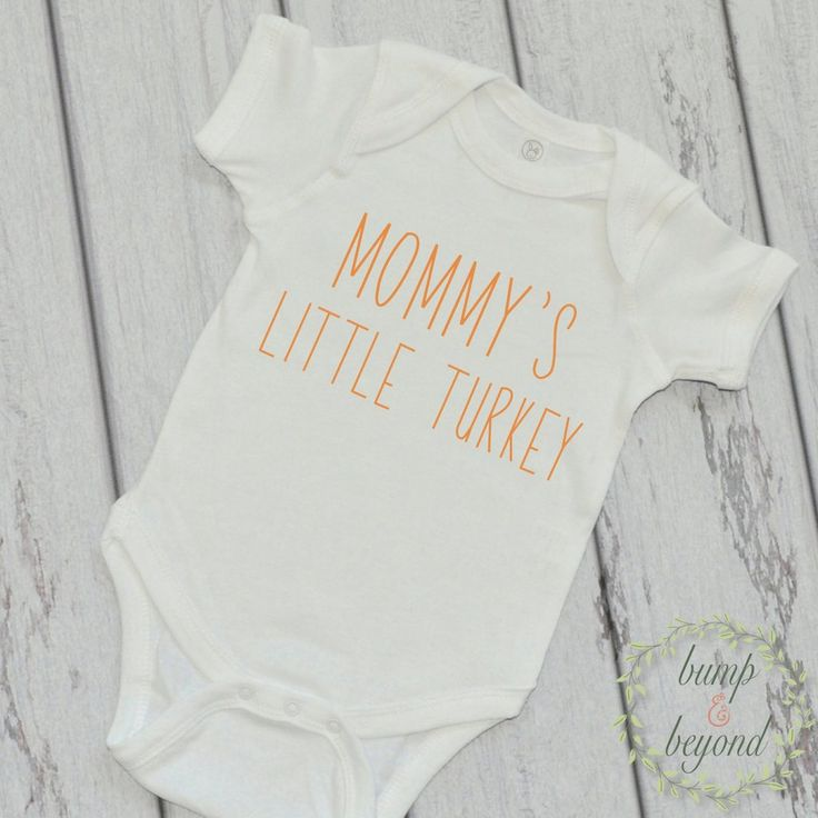 Baby's Thanksgiving Outfit Baby's First Thanksgiving Mommy's Little Turkey Shirt My First Thanksgiving Outfit Newborn Thanksgiving Top