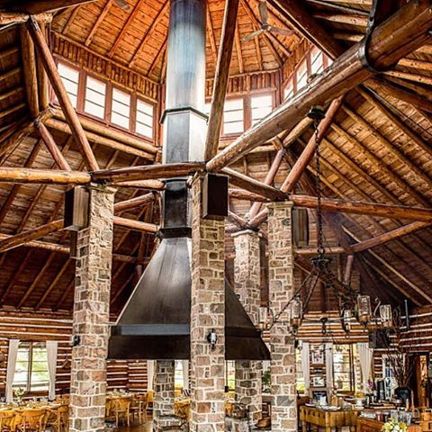 What an magnificent fireplace and ceiling for your wedding reception. Love Arowhon it's such a unique and one of a kind venue. It doesn't hurt that their food is out of this world too!