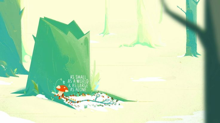 """""""AS SMALL AS A WORLD  AS LARGE AS ALONE"""" #Shortfilm #Animation"""
