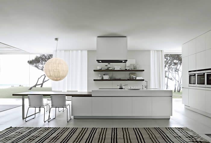 17 beste idee n over eiland tafel op pinterest keuken boothtafel kookeiland tafel en droomkeukens - Tafel centraal eiland ...