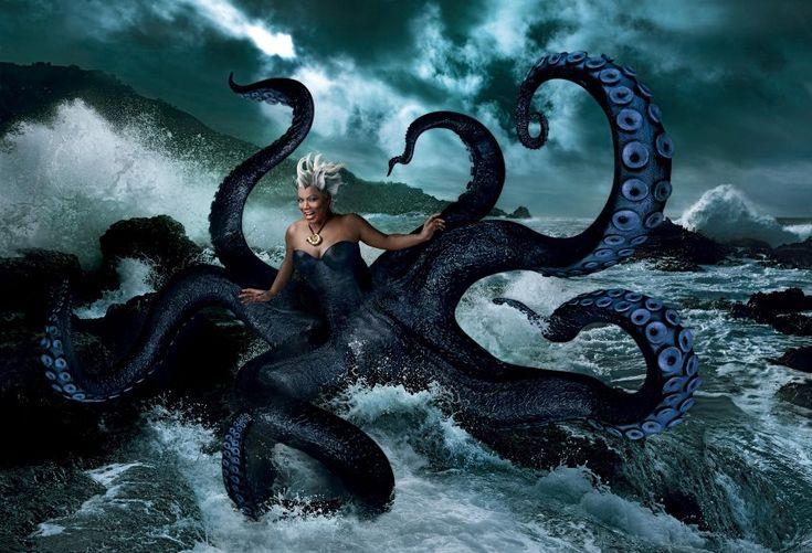 Annie Leibovitz: Queen Latifah gibt mit Riesententakeln die böse Seehexe Ursula aus der...