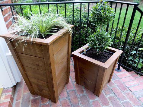 Decorative Wood Planter Boxes