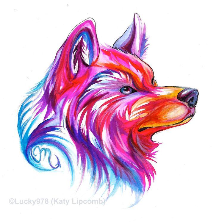 Wolf Head Design by Lucky978.deviantart.com on @DeviantArt