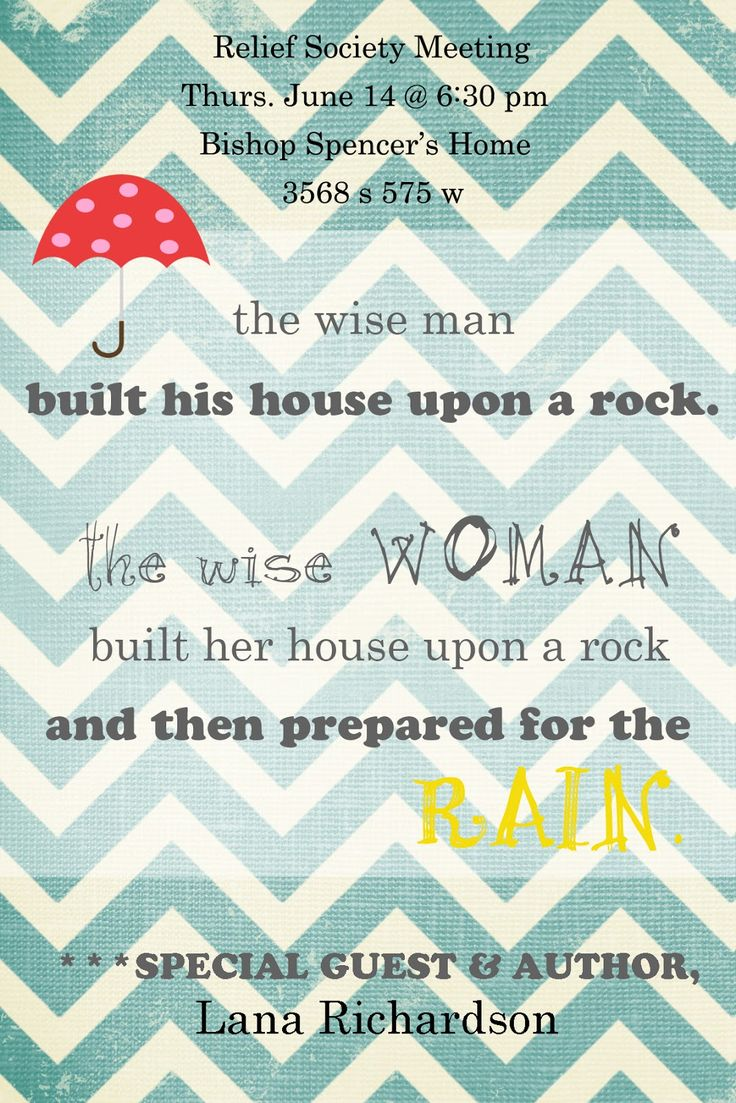 Two Ladies and a Blog: Prepare for the Rain