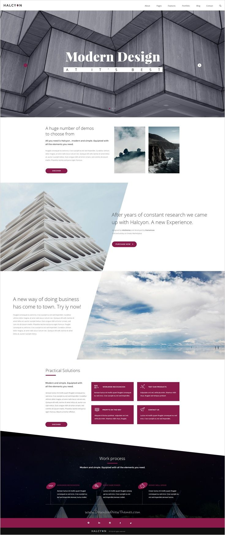 Halcyon is a beautifully #design premium #PSD #template for stunning website with 30+ multipurpose homepage layouts and 52 organized PSD pages download now➩ https://themeforest.net/item/halcyon-multipurpose-modern-website-psd-template/17535264?ref=Datasata