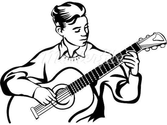 Gallery For > Guy Playing Acoustic Guitar Drawing | Images ...