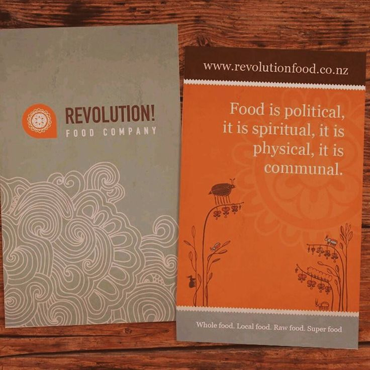 Beautiful cards for Revolution Food. #designinspiration #graphicdesign #inspiration #design